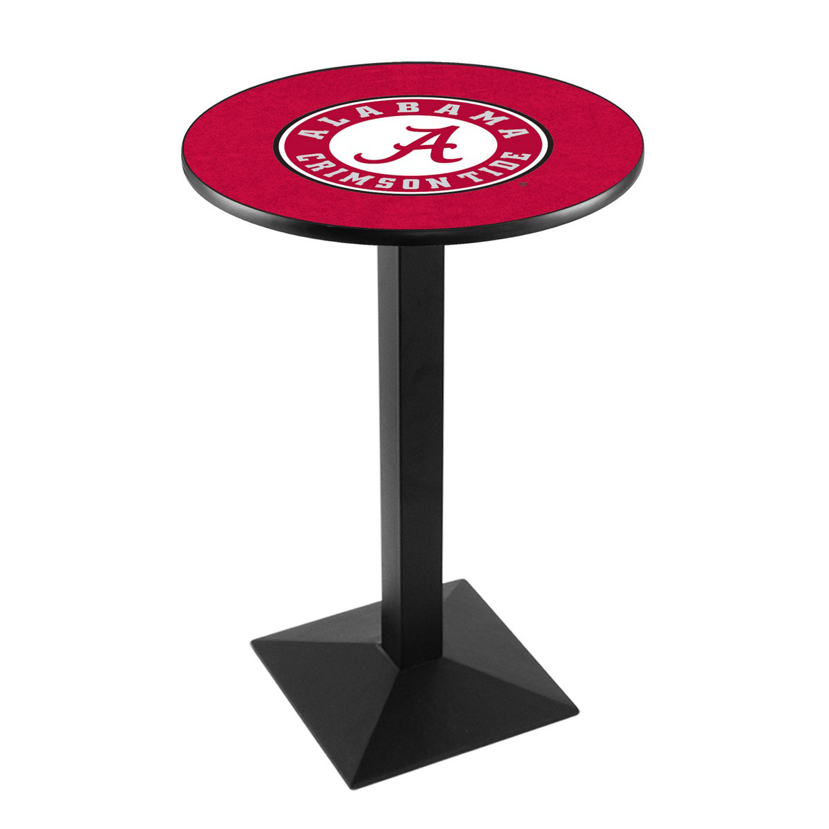 Trustworthy University Alabama Script A Logo Pub Bar Table Square Stand Product Photo