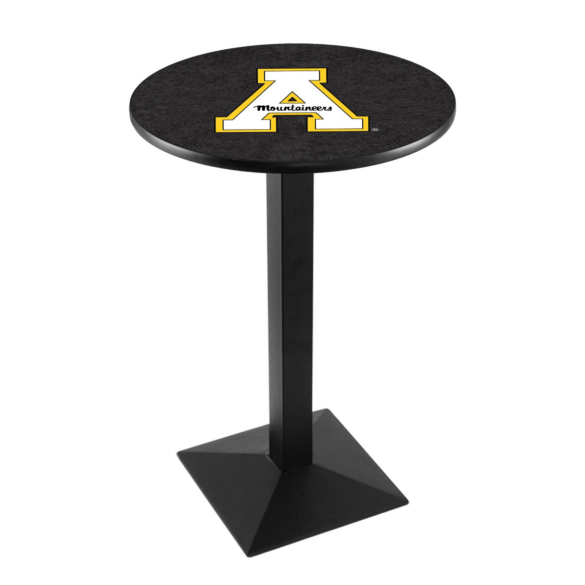 Reliable Appalachian State University Logo Pub Bar Table Square Stand 23 1846