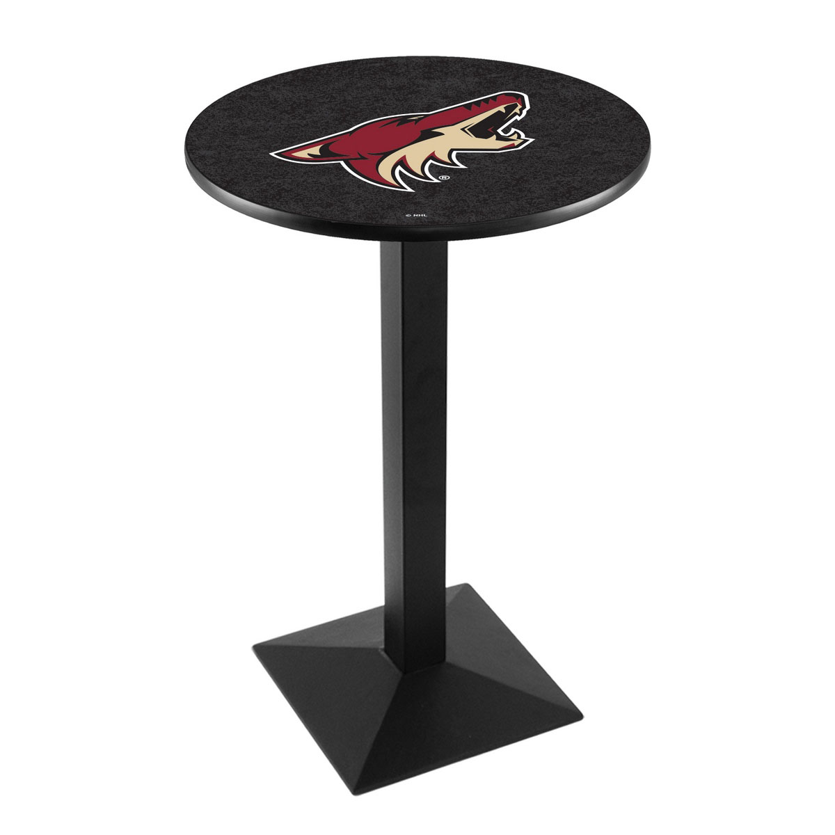 Reliable Arizona Coyotes Logo Pub Bar Table Square Stand 35 1847