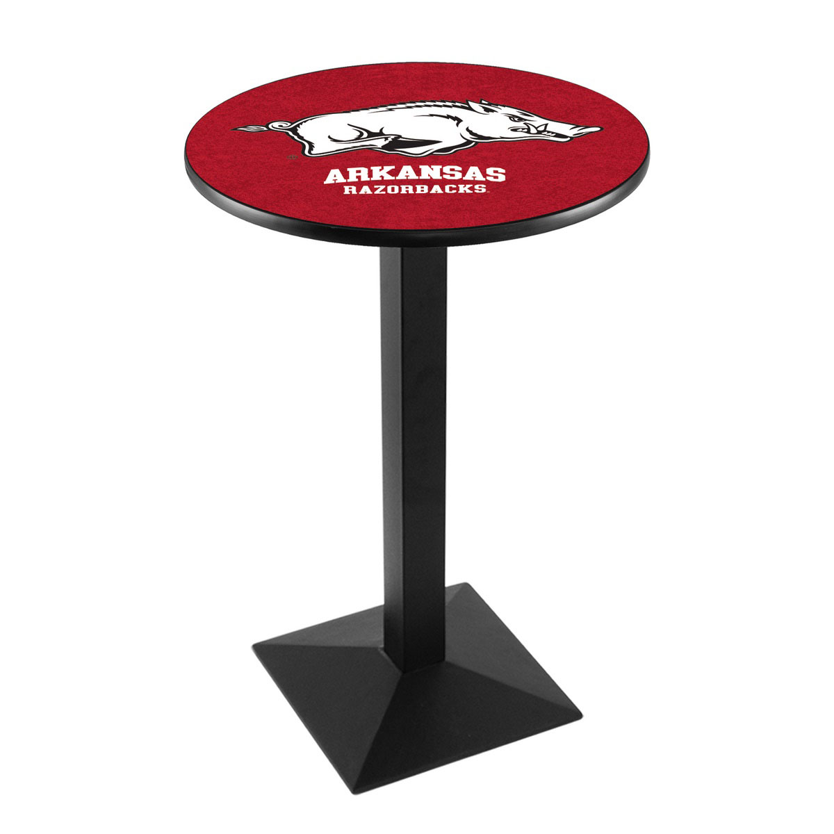 Best-selling University Arkansas Logo Pub Bar Table Square Stand Product Photo