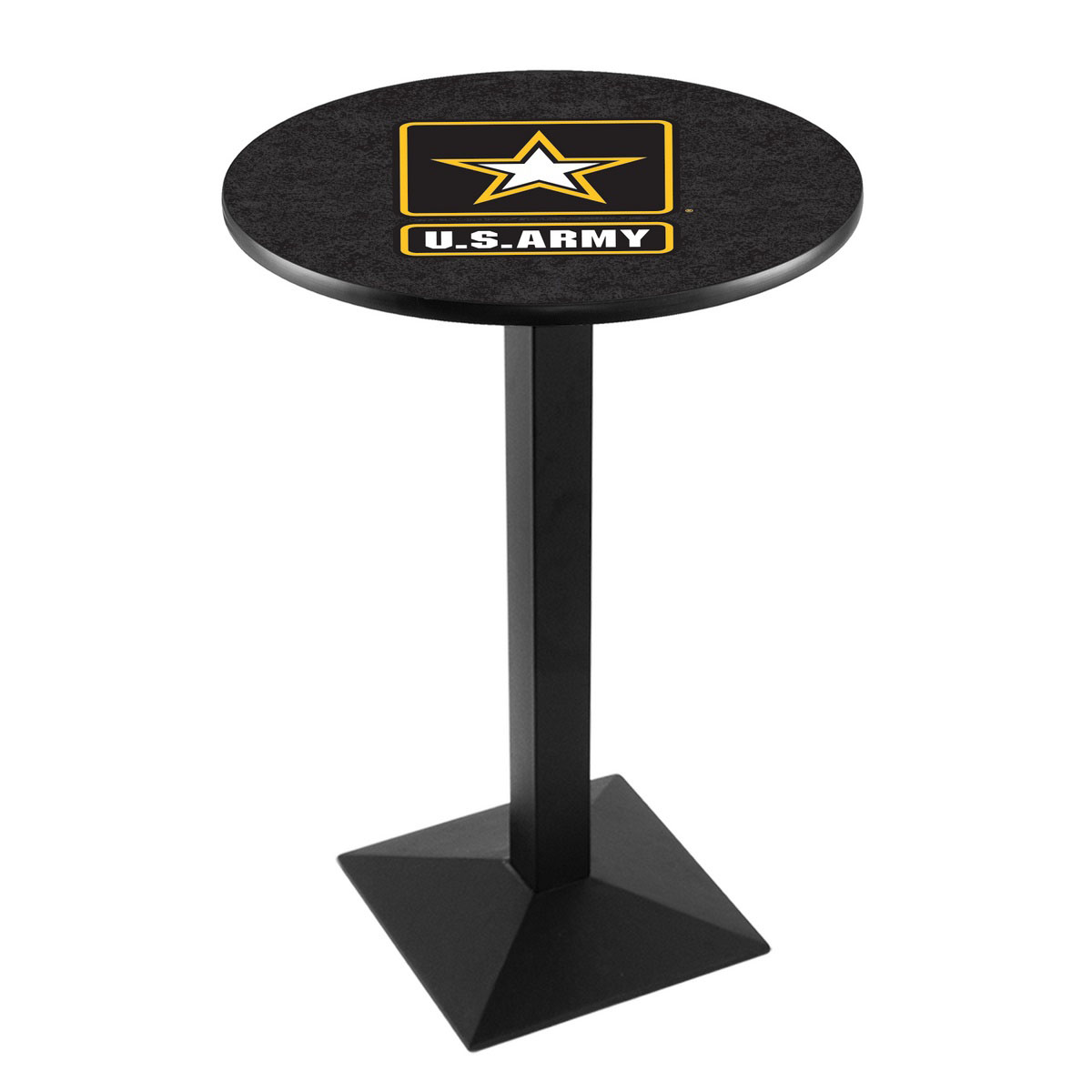 View United States Army Logo Pub Bar Table Square Stand Product Photo