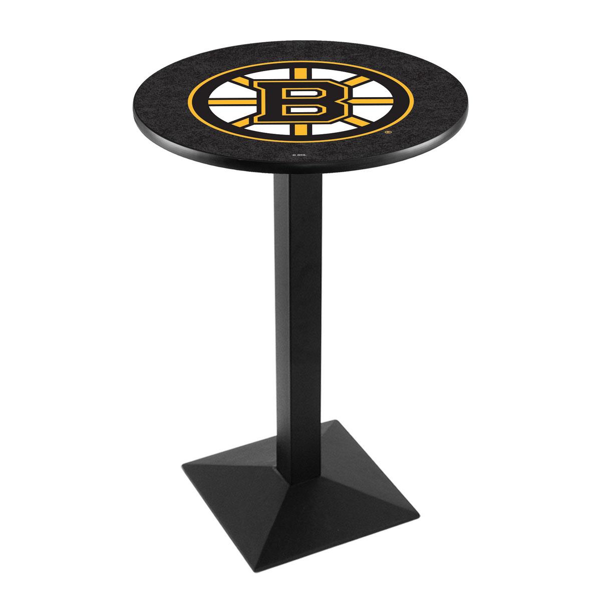 Magnificent Boston Bruins Logo Pub Bar Table Square Stand Product Photo