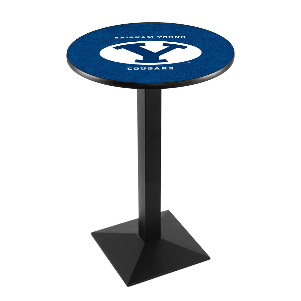 Beautiful Brigham Young University Logo Pub Bar Table Square Stand Product Photo