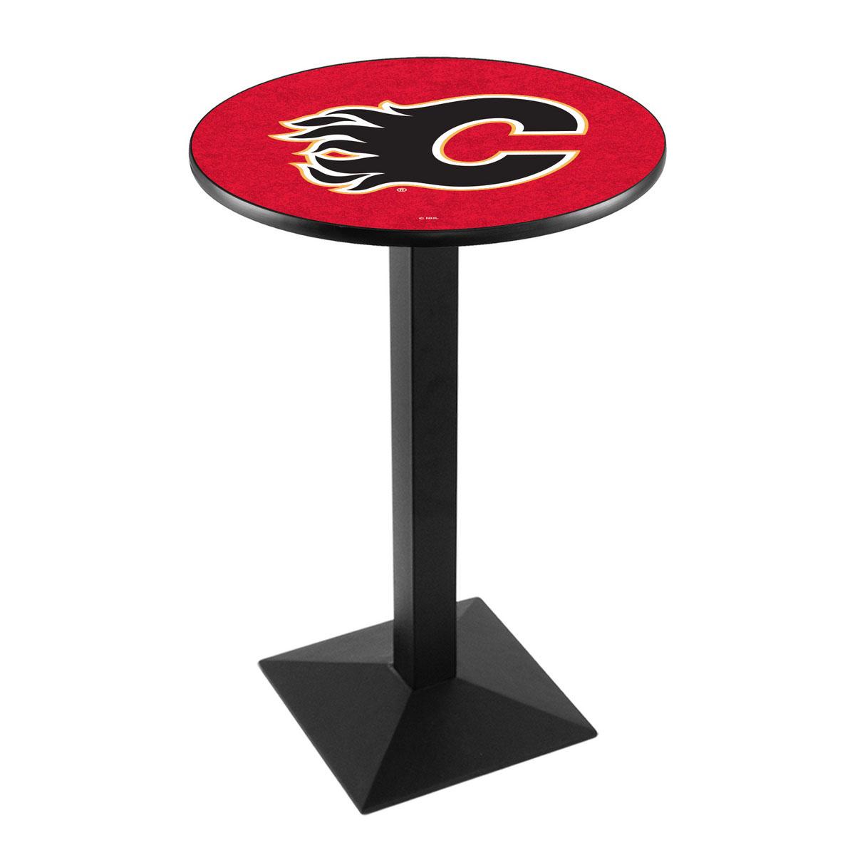 Wonderful Calgary Flames Logo Pub Bar Table Square Stand Product Photo