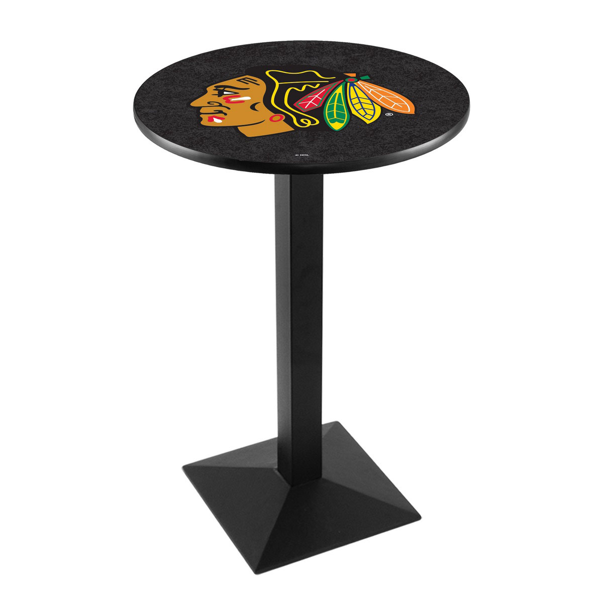 Select Chicago hawks Background Logo Pub Bar Table Square Stand Product Photo