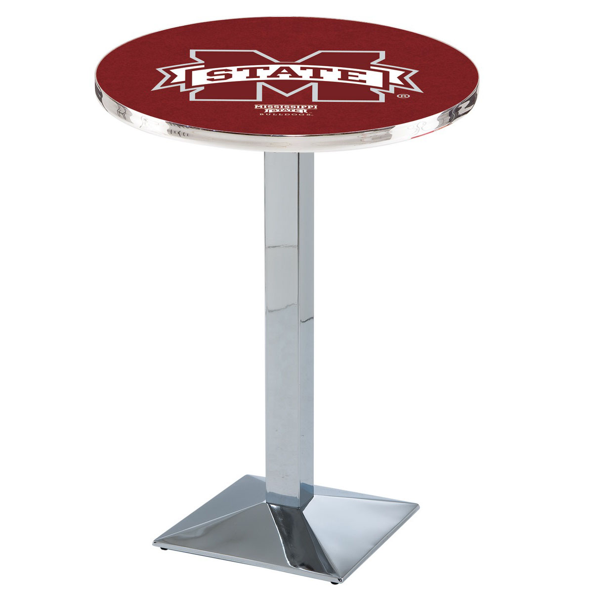 Lovable Mississippi State University Logo Pub Bar Table Square Stand Product Photo
