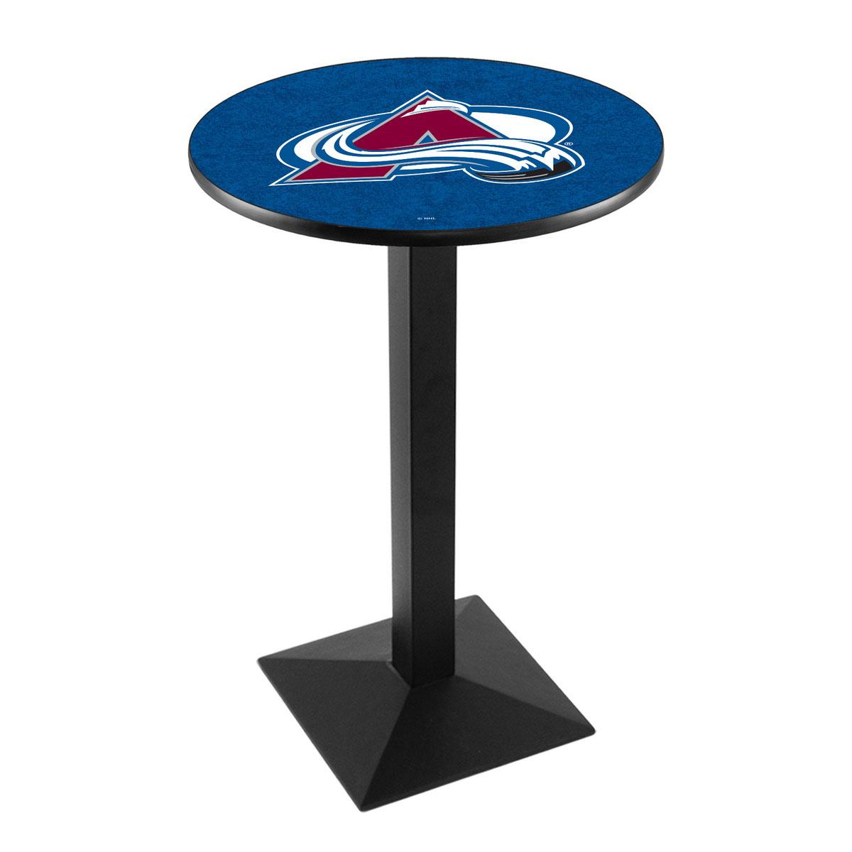 Order Colorado Avalanche Logo Pub Bar Table Square Stand Product Photo
