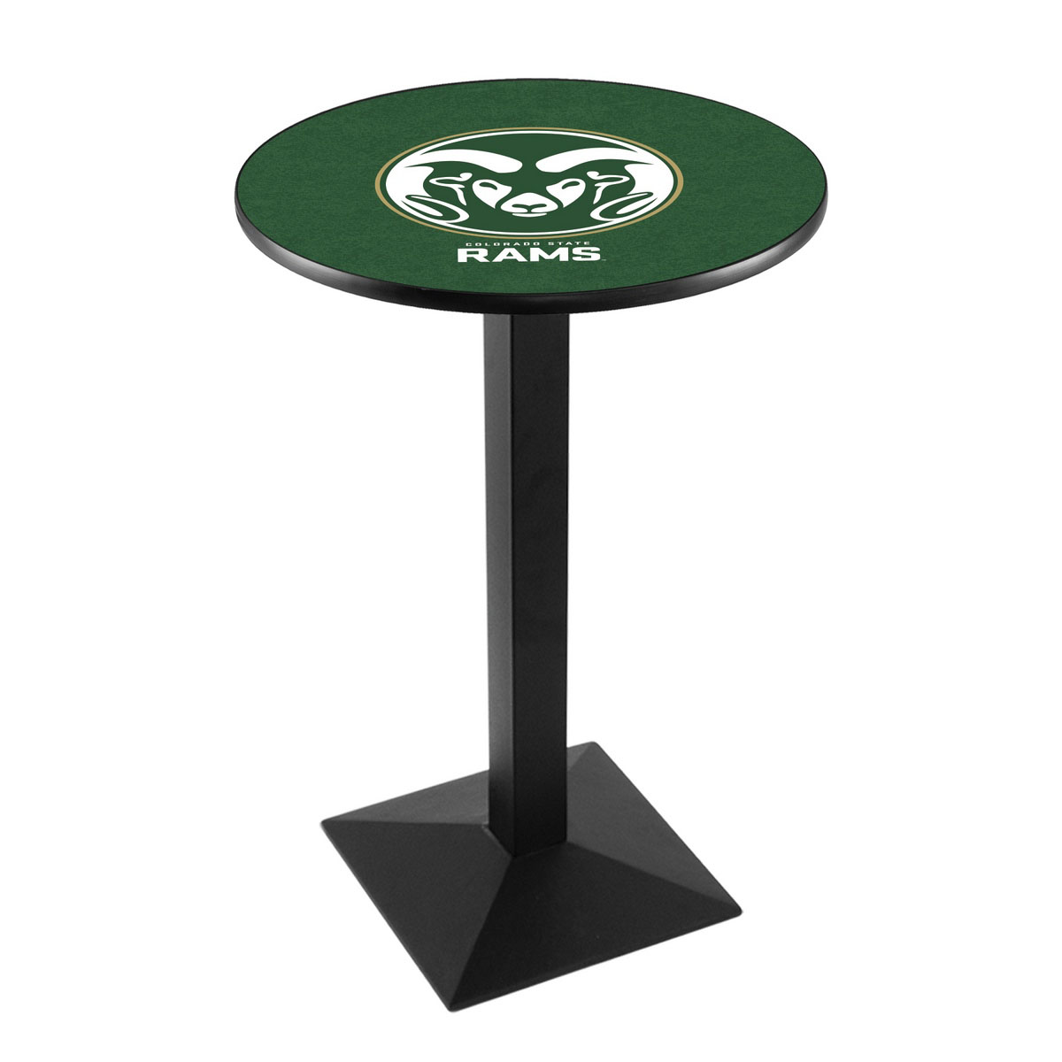 Info about Colorado State University Logo Pub Bar Table Square Stand Product Photo