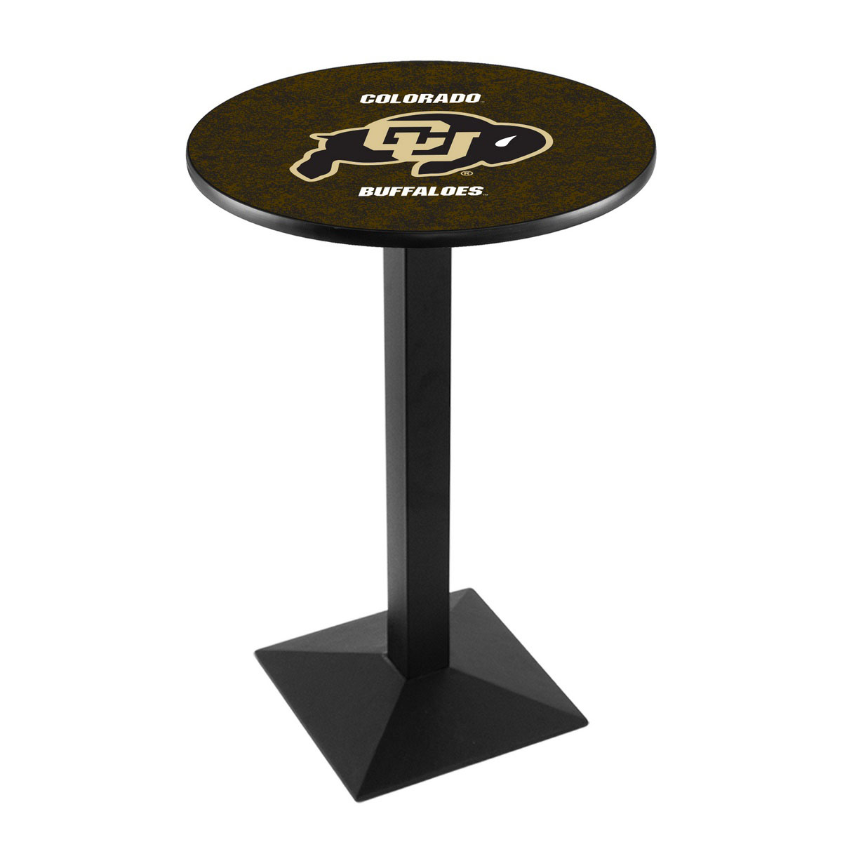User friendly University Colorado Logo Pub Bar Table Square Stand Product Photo