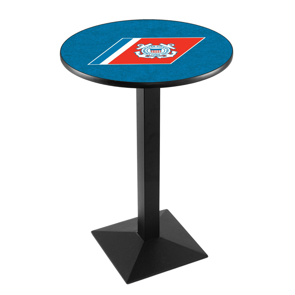 Learn more about United States Coast Guard Logo Pub Bar Table Square Stand Product Photo