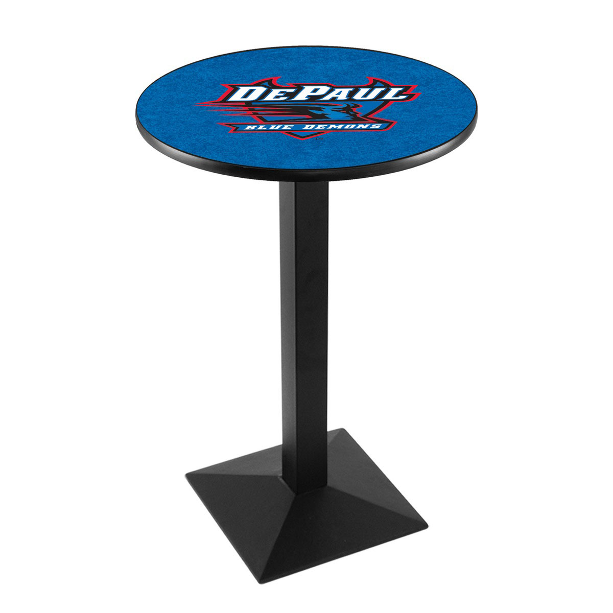 Stylish Depaul University Logo Pub Bar Table Square Stand Product Photo