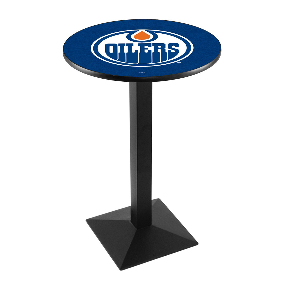 Lovable Edmonton Oilers Logo Pub Bar Table Square Stand Product Photo