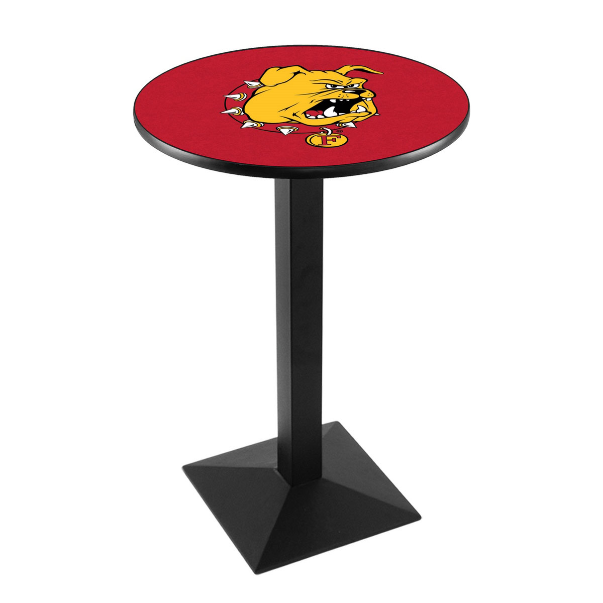 Superb Ferris State University Logo Pub Bar Table Square Stand Product Photo