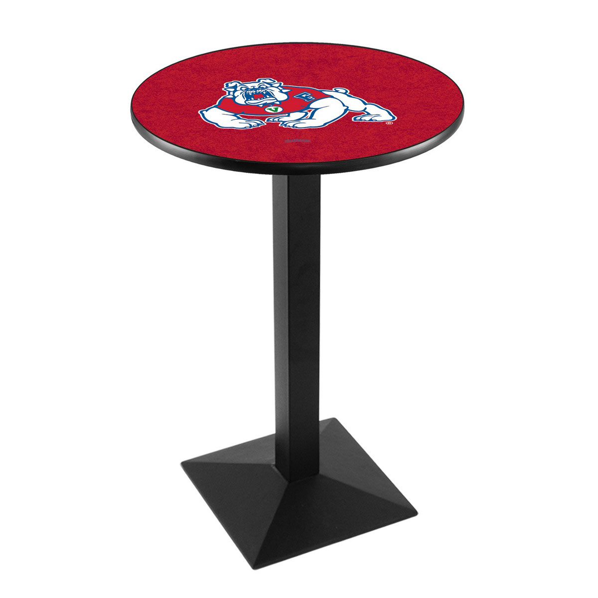 Serious Fresno State University Logo Pub Bar Table Square Stand Product Photo