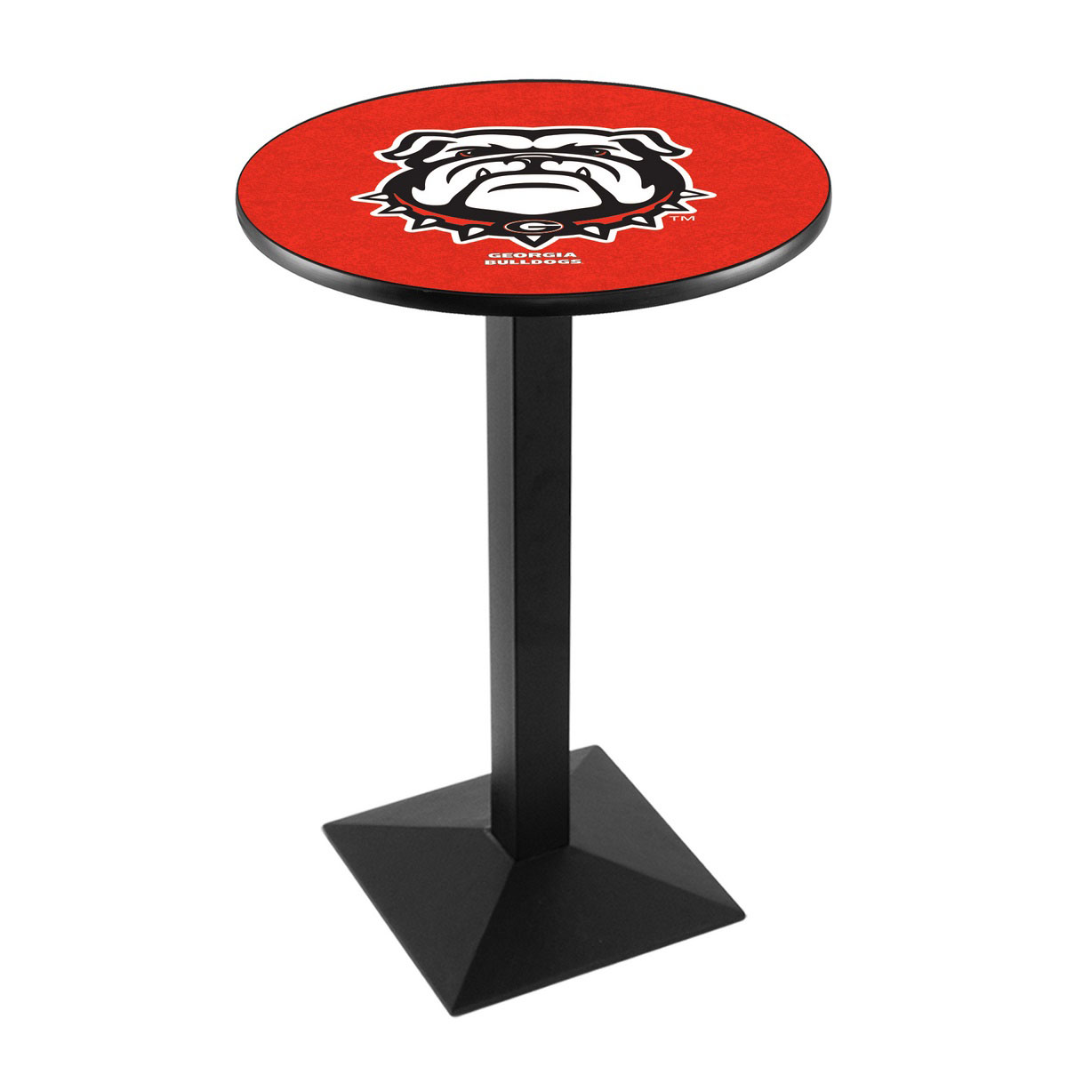 Design University Georgia Bulldog Logo Pub Bar Table Square Stand Product Photo