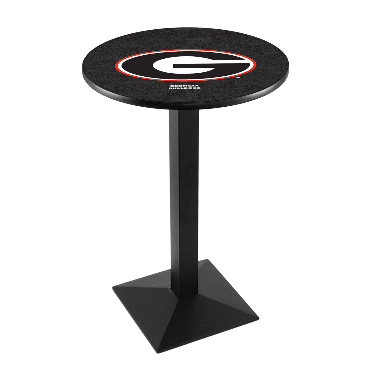 Remarkable University Georgia Logo Pub Bar Table Square Stand Product Photo