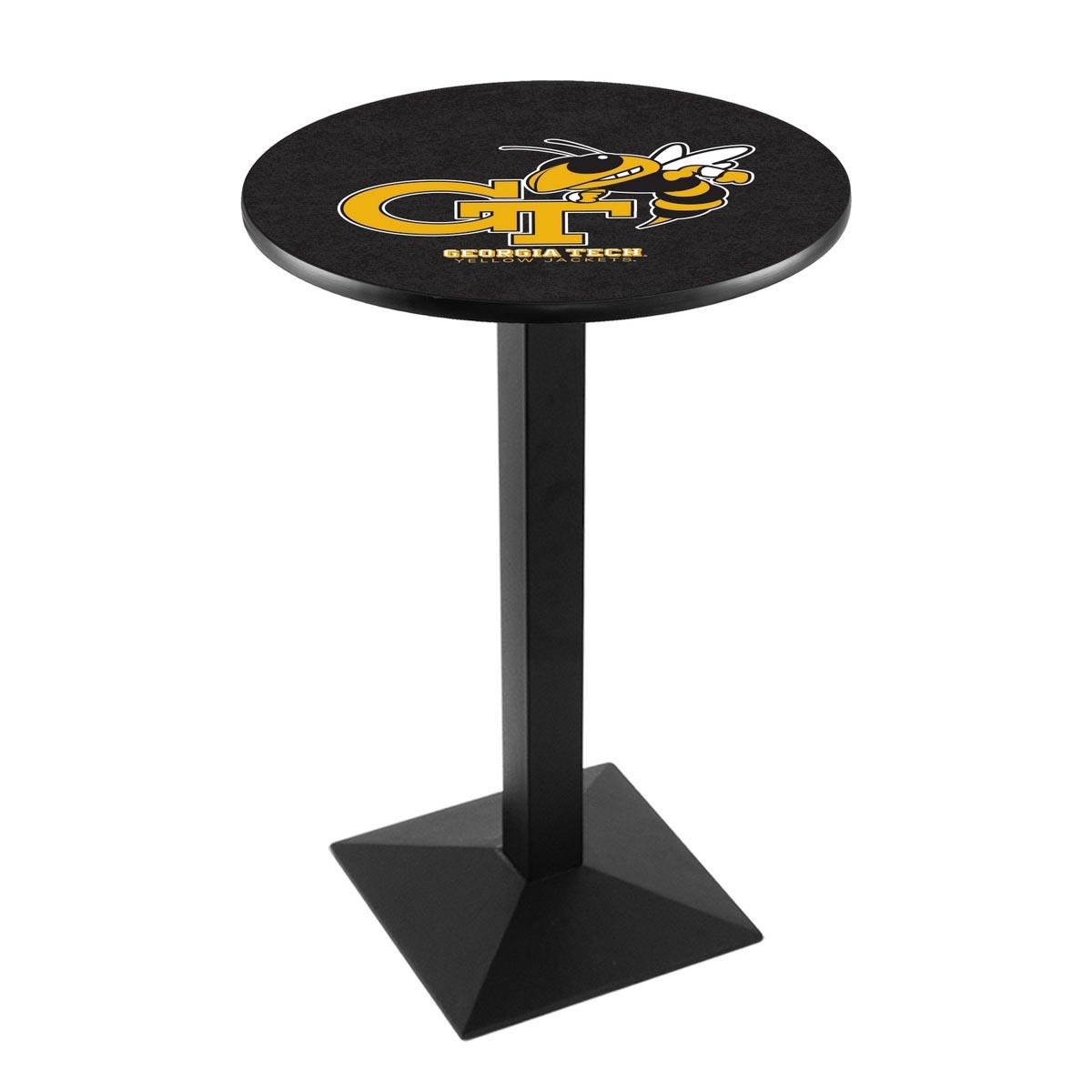 Reliable Georgia Tech Logo Pub Bar Table Square Stand Product Photo