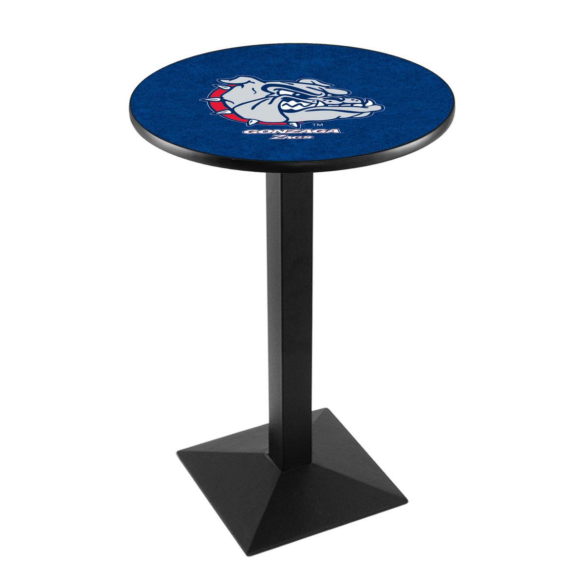 Trustworthy Gonzaga Logo Pub Bar Table Square Stand Product Photo
