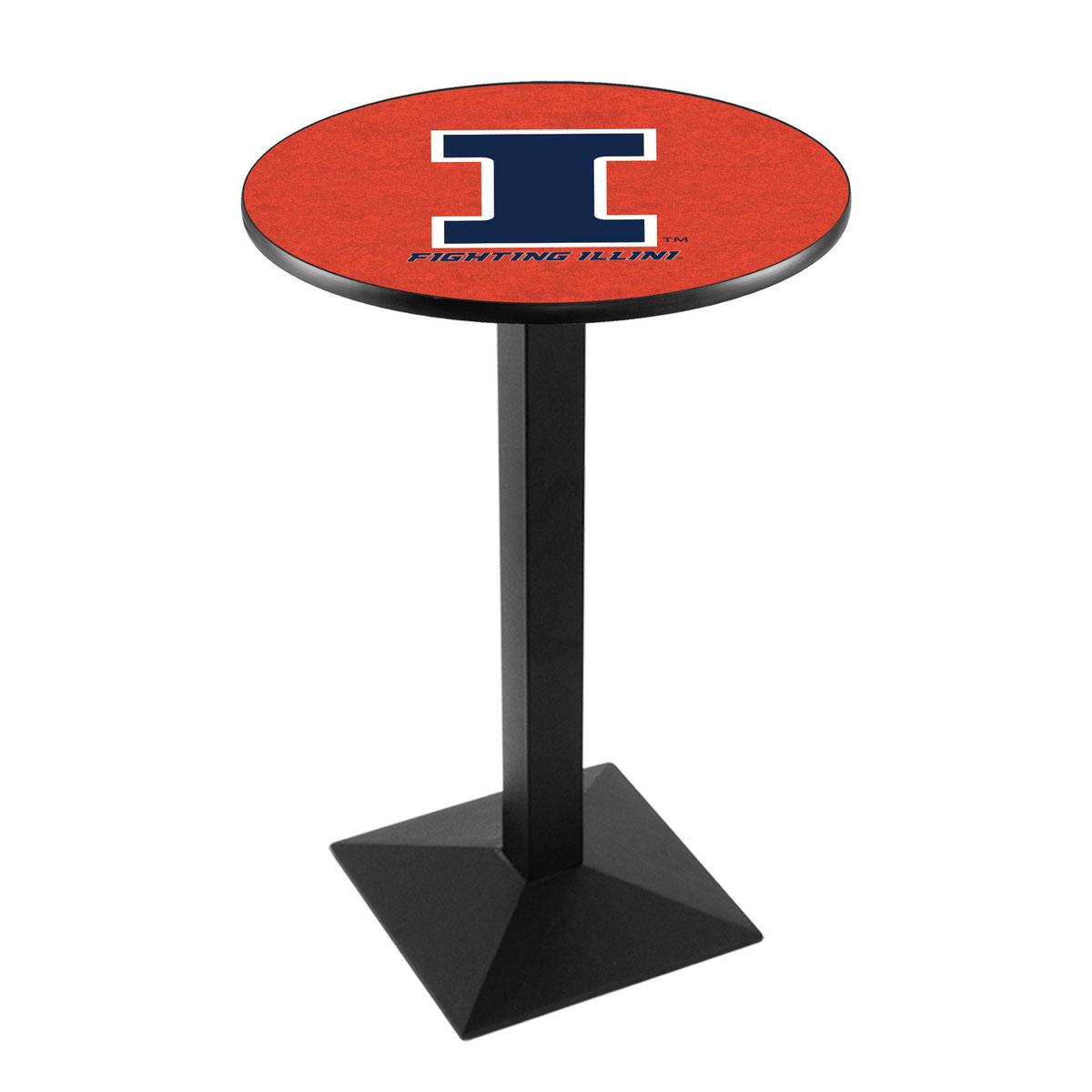 Precious University Illinois Logo Pub Bar Table Square Stand Product Photo