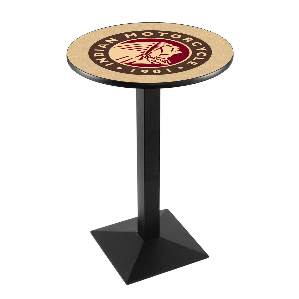 Best-selling Indian Motorcycle Logo Pub Bar Table Square Stand Product Photo