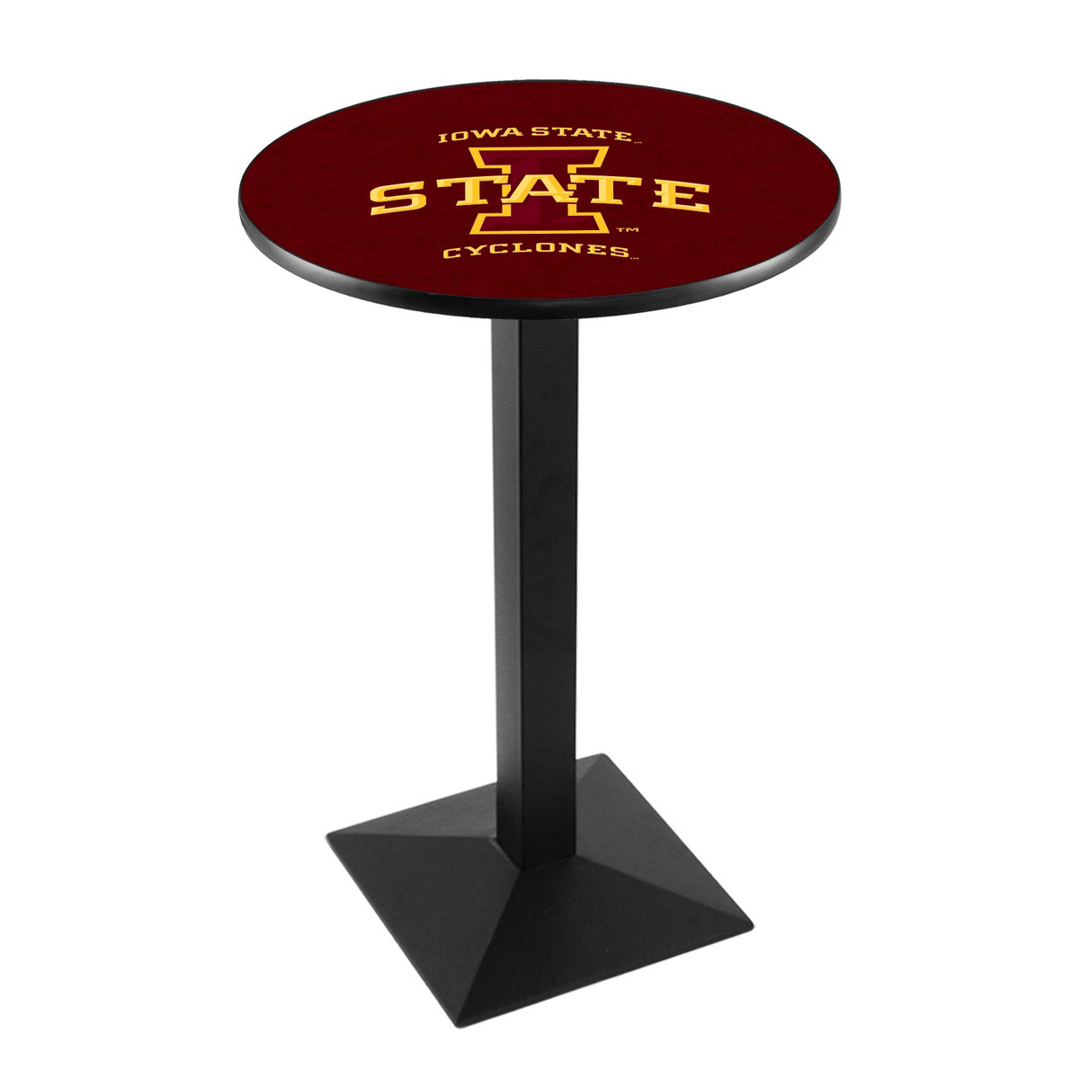 View Iowa State University Logo Pub Bar Table Square Stand Product Photo