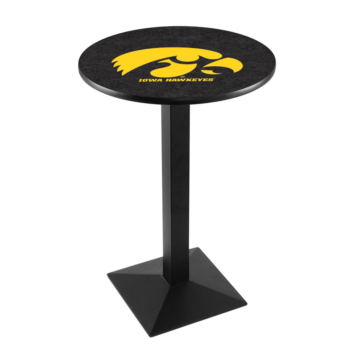Check out the University Iowa Logo Pub Bar Table Square Stand Product Photo
