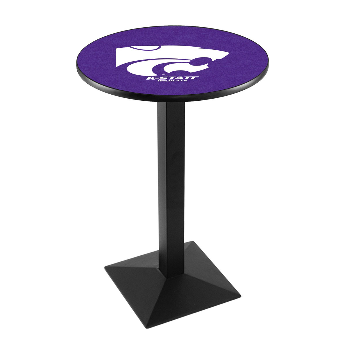 Magnificent Kansas State University Logo Pub Bar Table Square Stand Product Photo