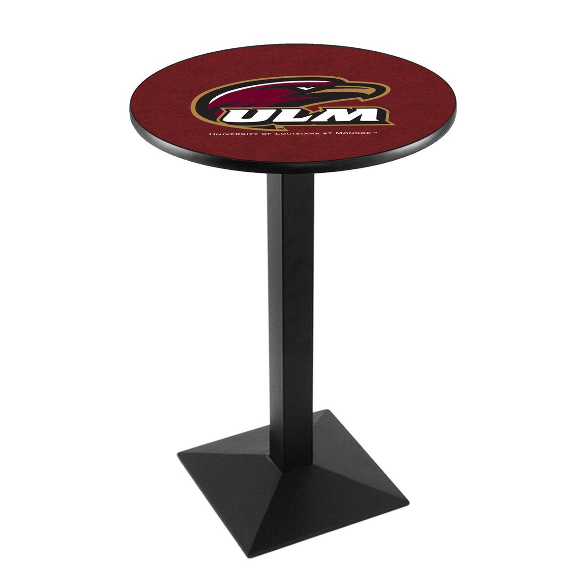 Wonderful University Louisiana At Monroe Logo Pub Bar Table Square Stand Product Photo