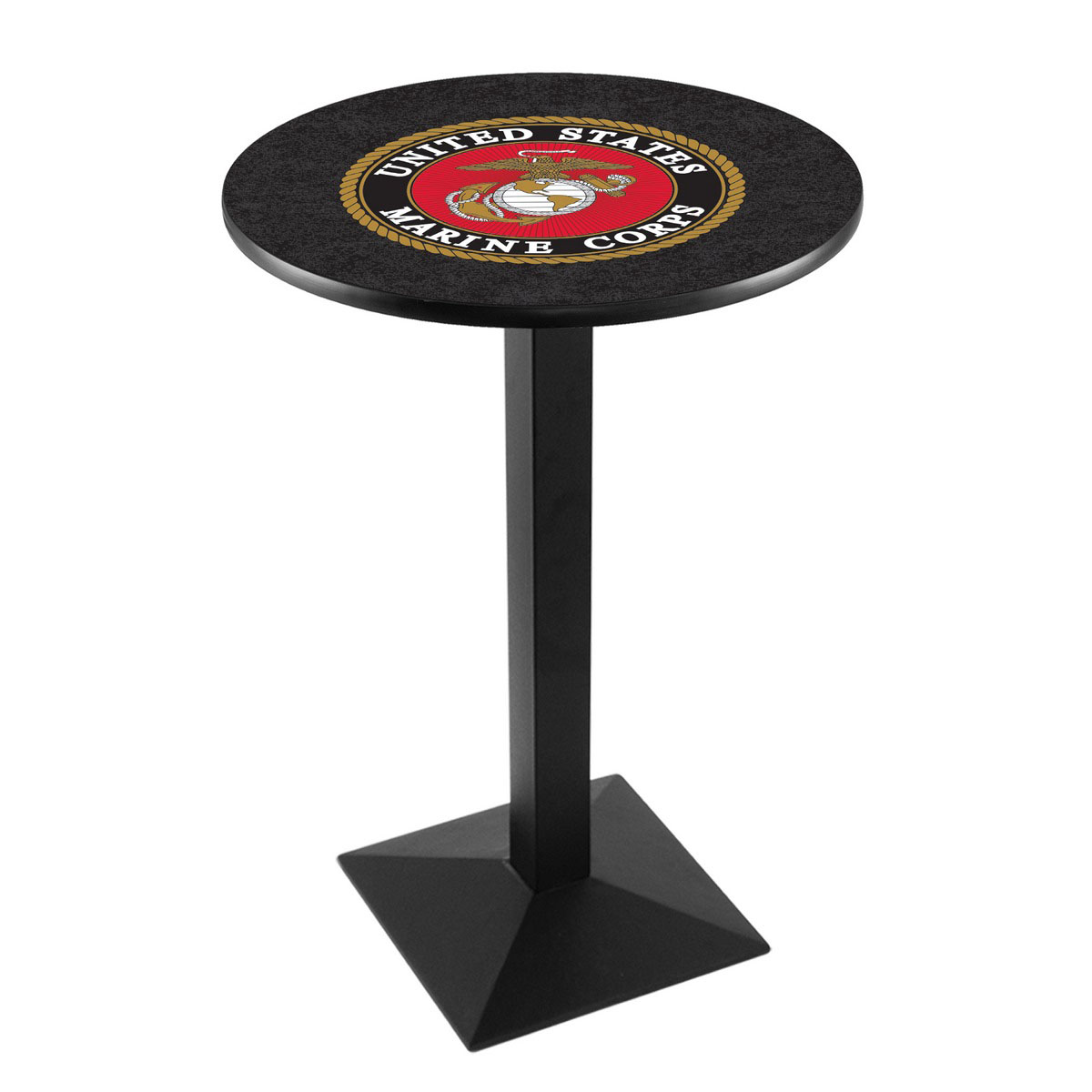 Select United States Marine Corps Logo Pub Bar Table Square Stand Product Photo