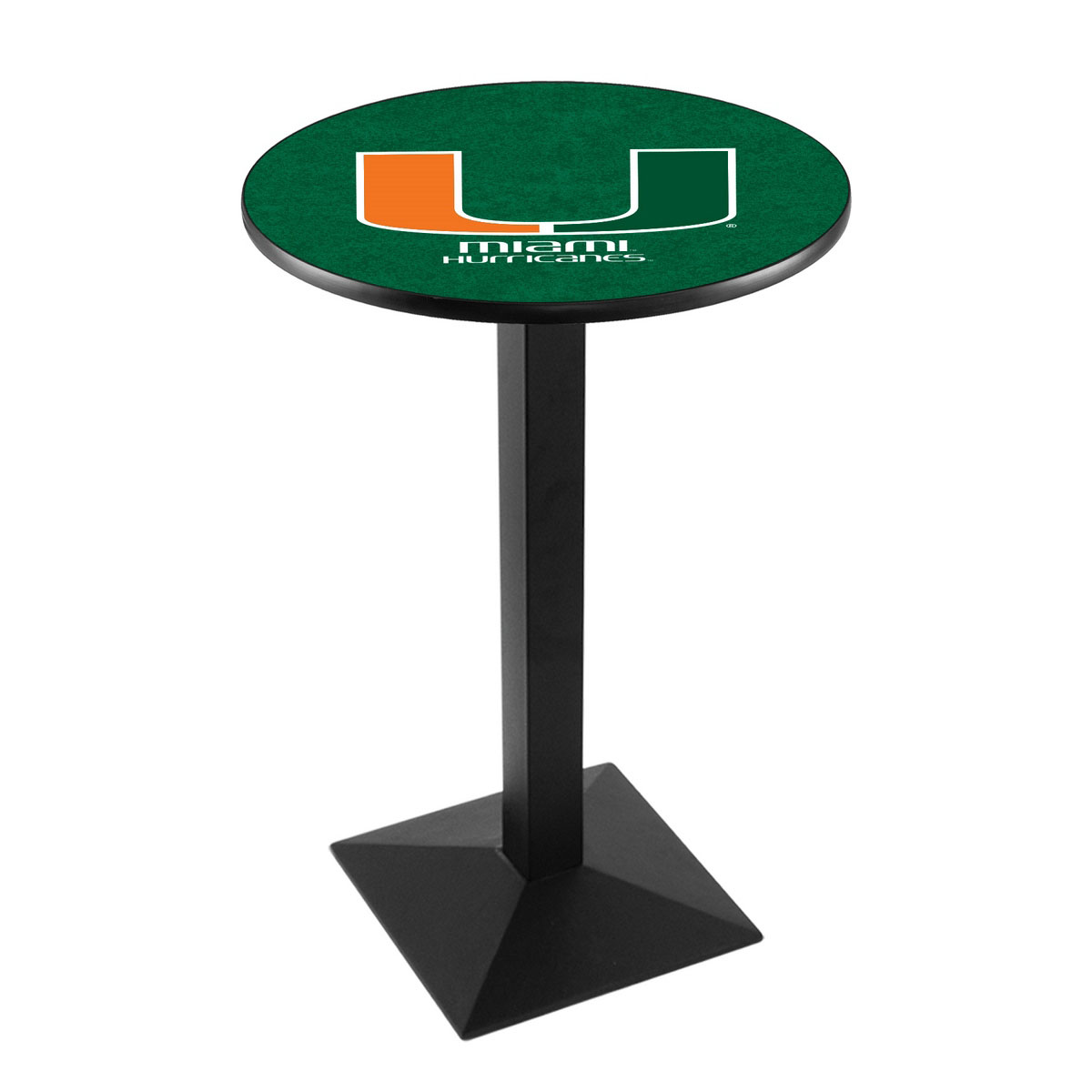Search University Miami Fl Logo Pub Bar Table Square Stand Product Photo