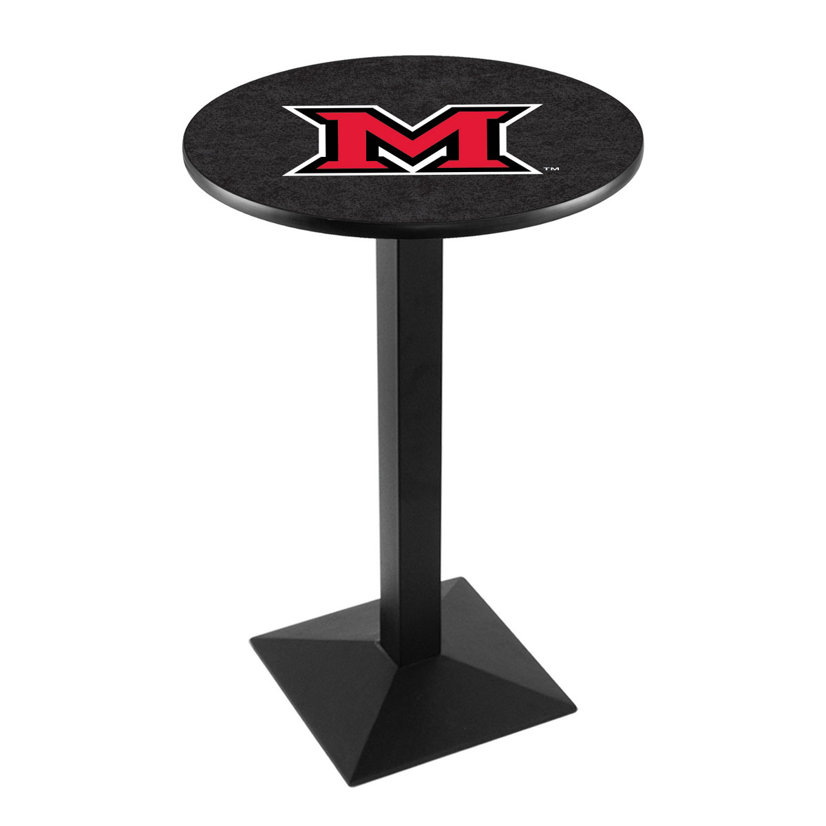 Order Miami University Oh Logo Pub Bar Table Square Stand Product Photo