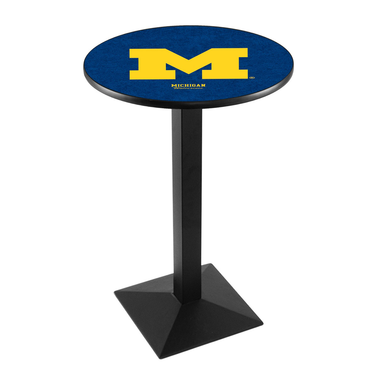 Info about University Michigan Logo Pub Bar Table Square Stand Product Photo