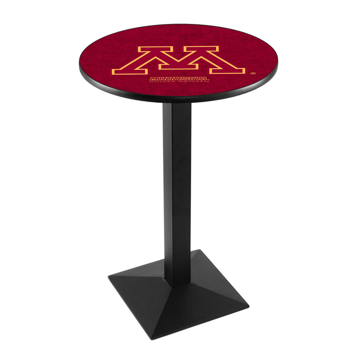 User friendly University Minnesota Logo Pub Bar Table Square Stand Product Photo