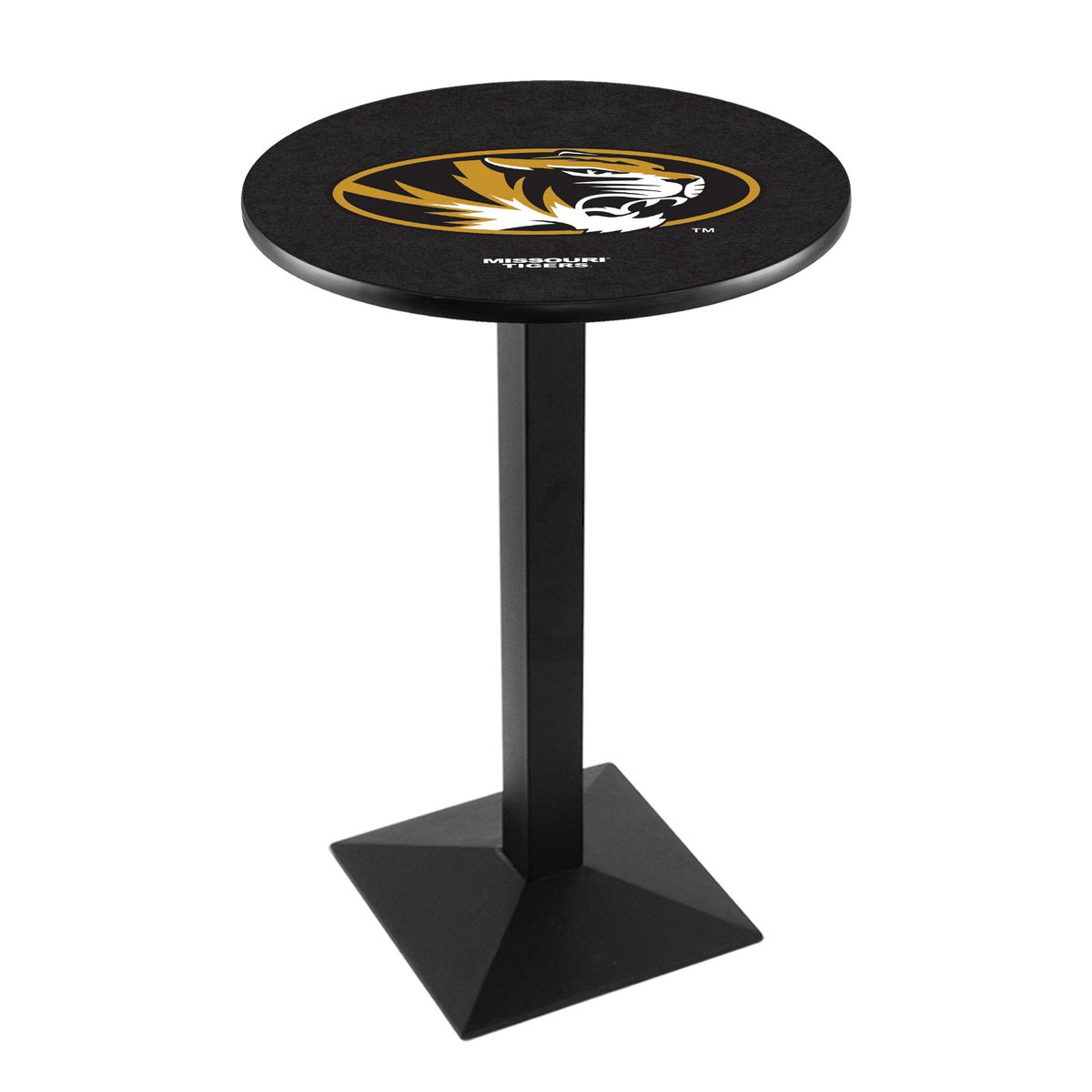Learn more about University Missouri Logo Pub Bar Table Square Stand Product Photo