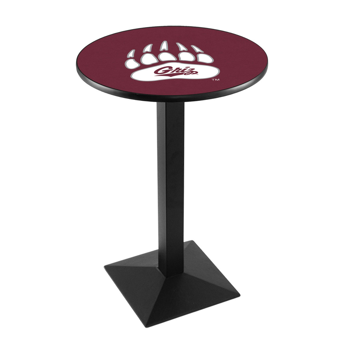 Stunning University Montana Logo Pub Bar Table Square Stand Product Photo