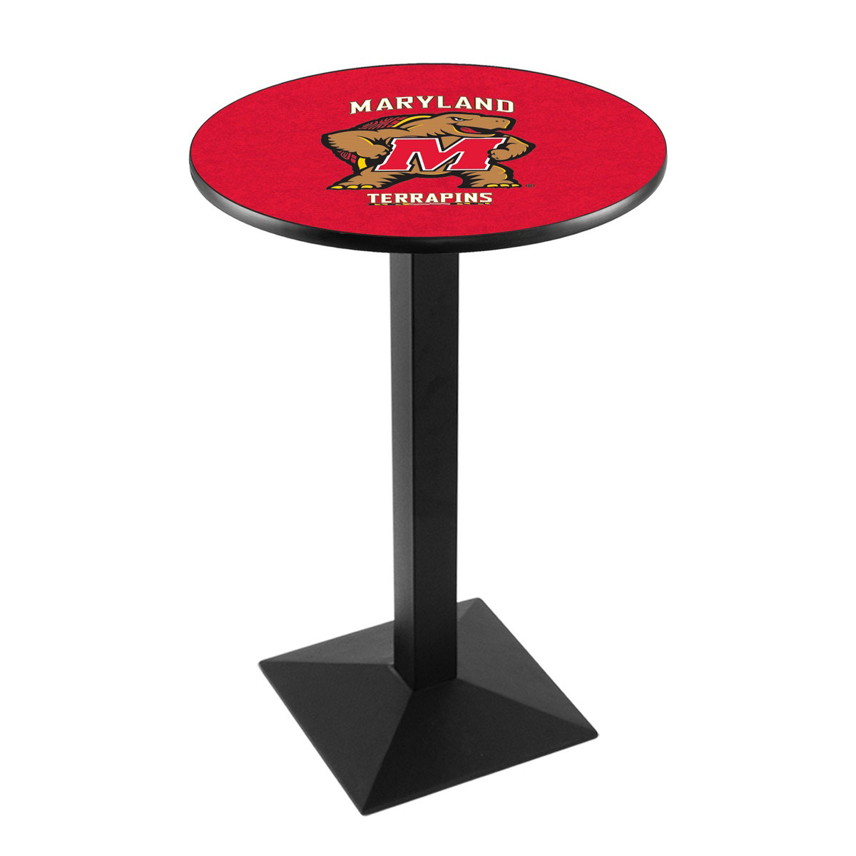 Tasteful University Maryland Logo Pub Bar Table Square Stand Product Photo