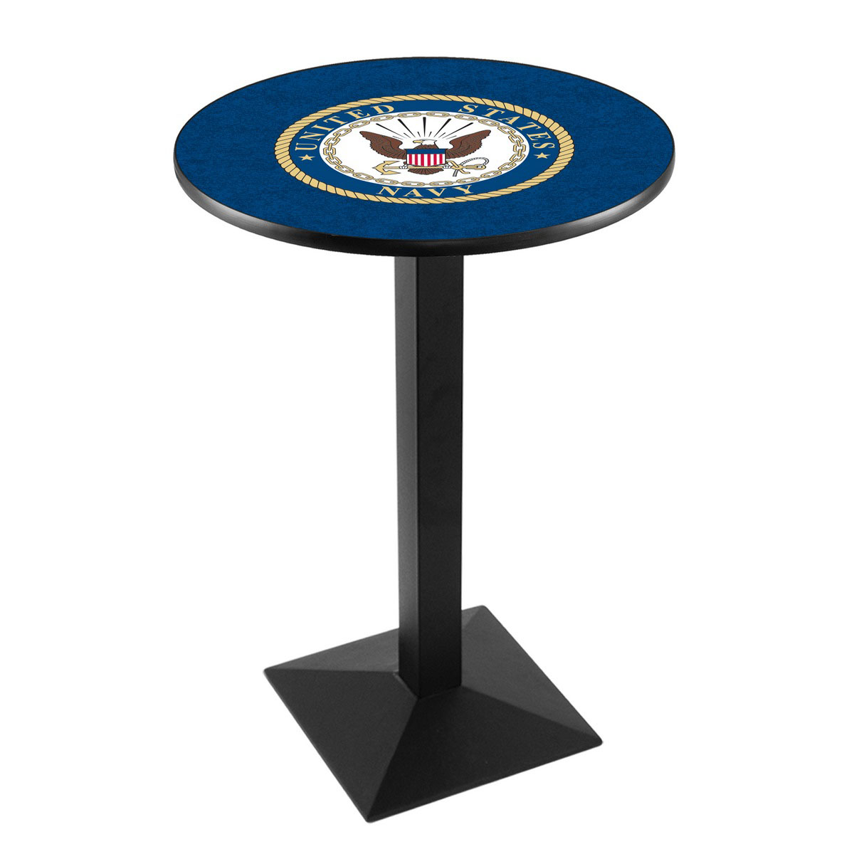 Superb United States Navy Logo Pub Bar Table Square Stand Product Photo