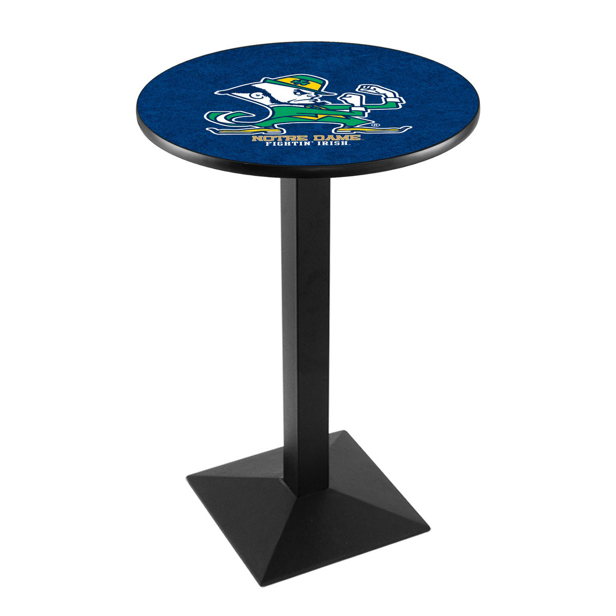 Serious Notre Dame Leprechaun Logo Pub Bar Table Square Stand Product Photo