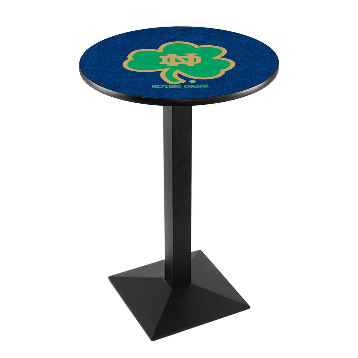Money saving Notre Dame Shamrock Logo Pub Bar Table Square Stand Product Photo