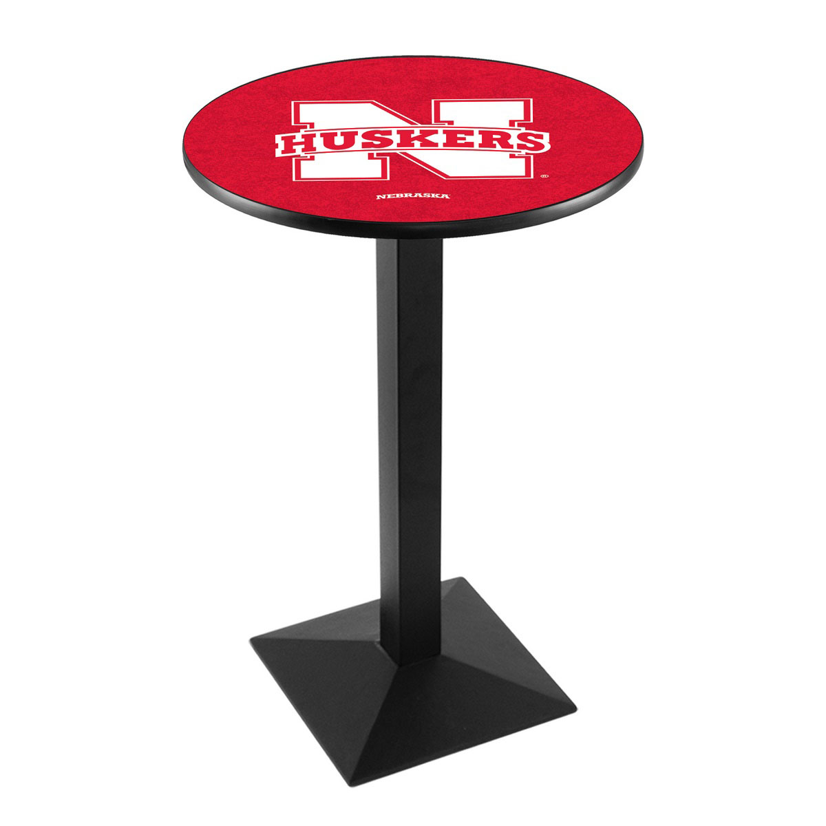 Design University Nebraska Logo Pub Bar Table Square Stand Product Photo