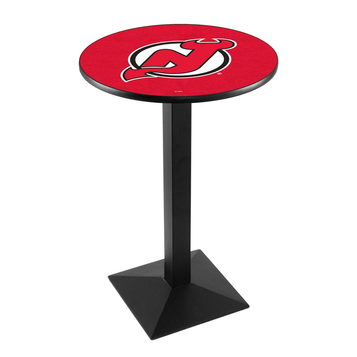 Trustworthy New Jersey Devils Logo Pub Bar Table Square Stand Product Photo