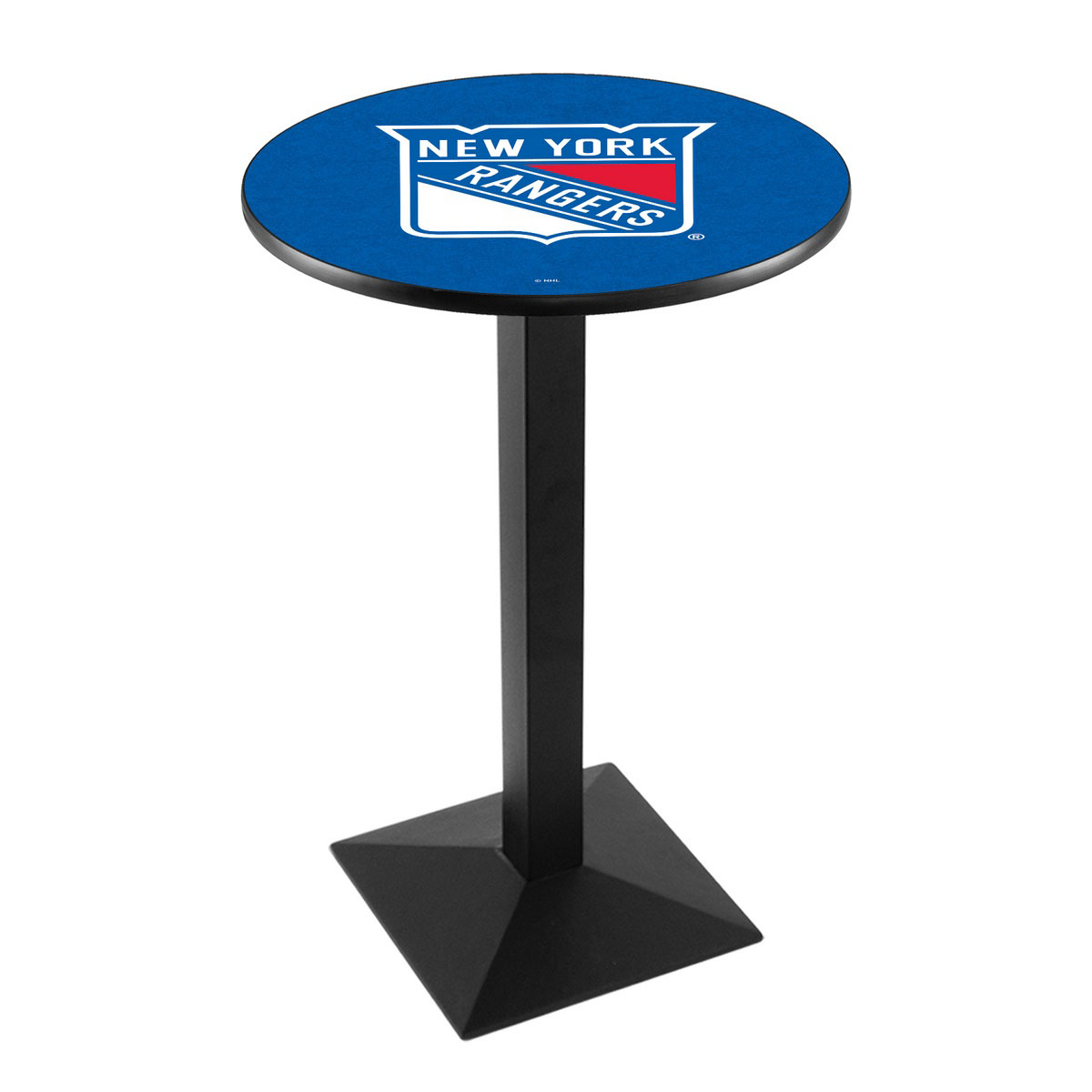View New York Rangers Logo Pub Bar Table Square Stand Product Photo