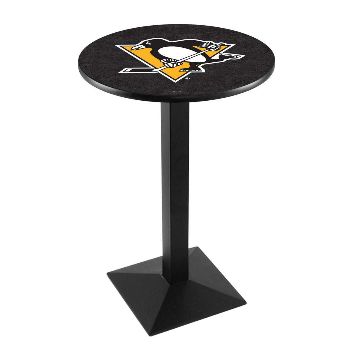 Wonderful Pittsburgh Penguins Logo Pub Bar Table Square Stand Product Photo