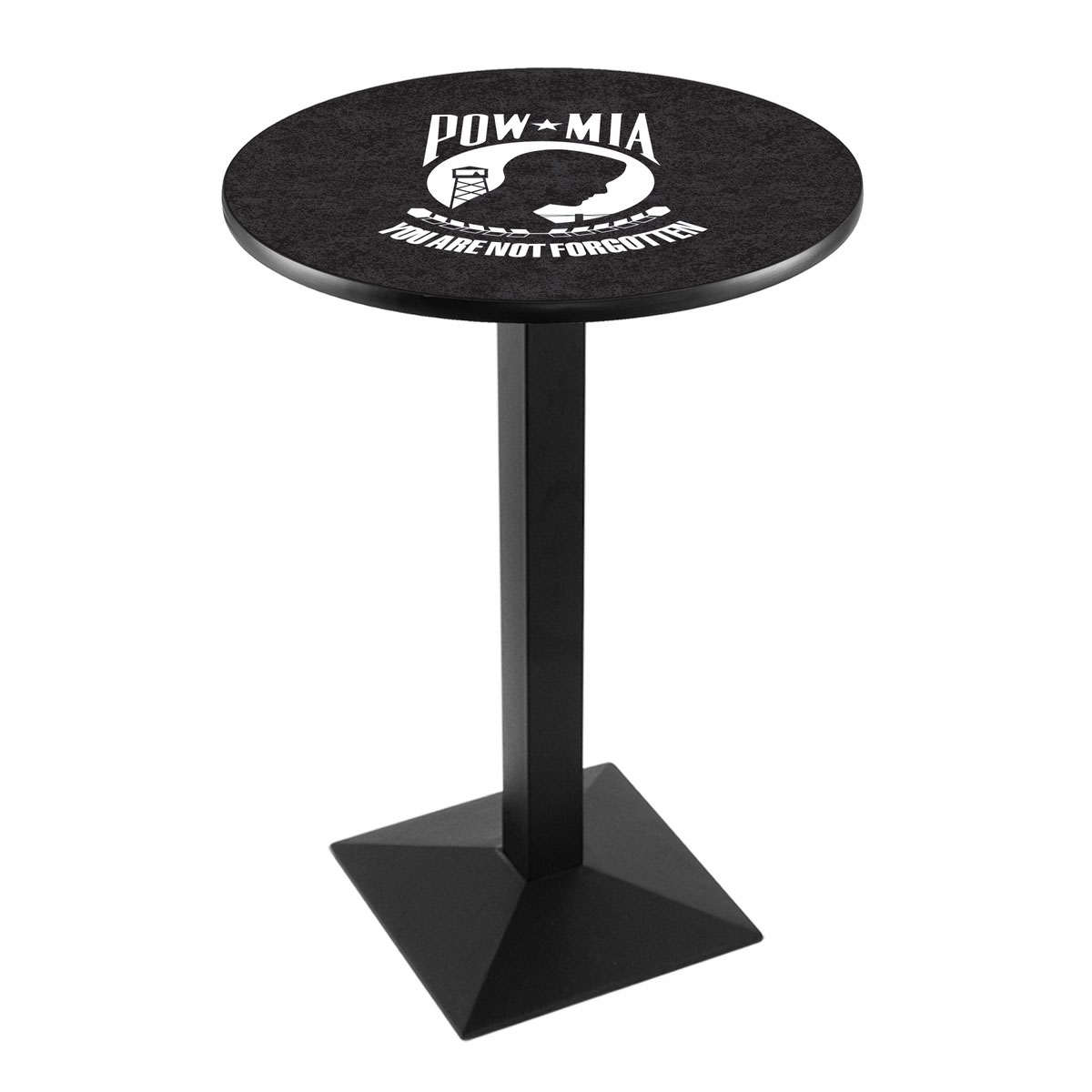 Longstanding Pow Mia Logo Pub Bar Table Square Stand Product Photo