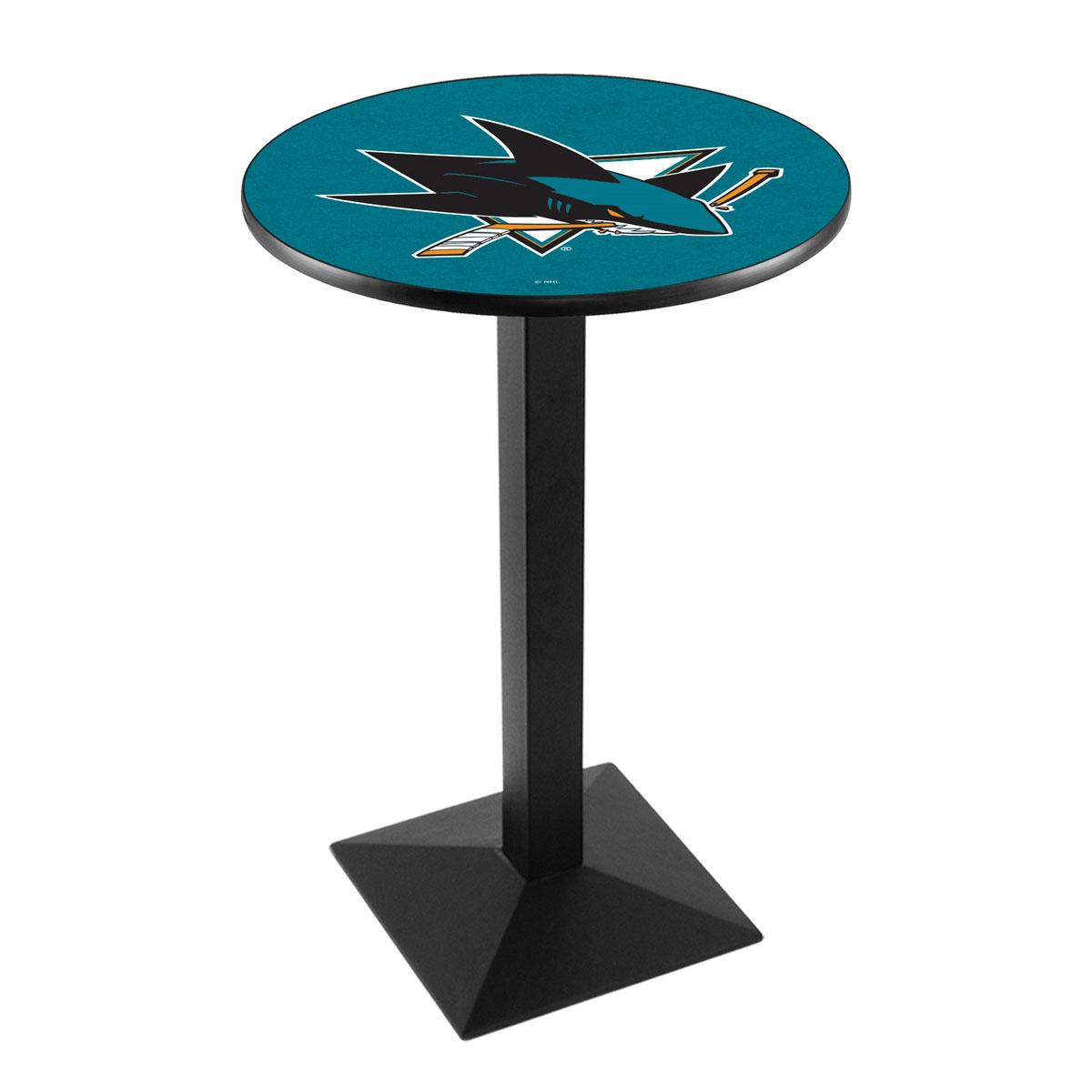 Choose San Jose Sharks Logo Pub Bar Table Square Stand Product Photo