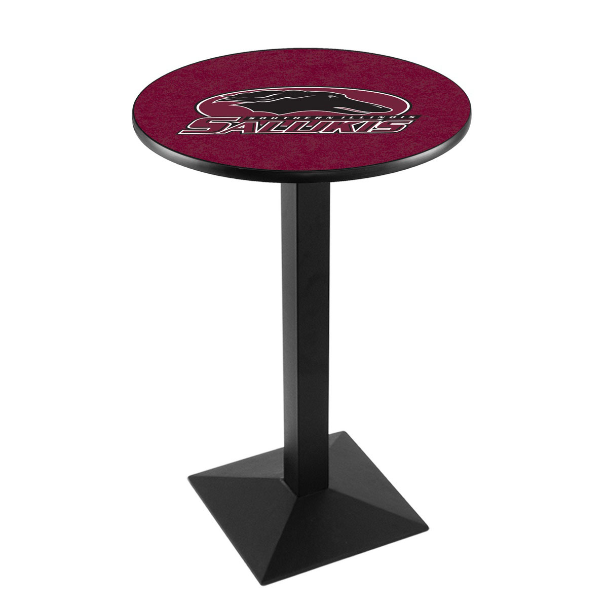 Info about Southern Illinois University Logo Pub Bar Table Square Stand Product Photo