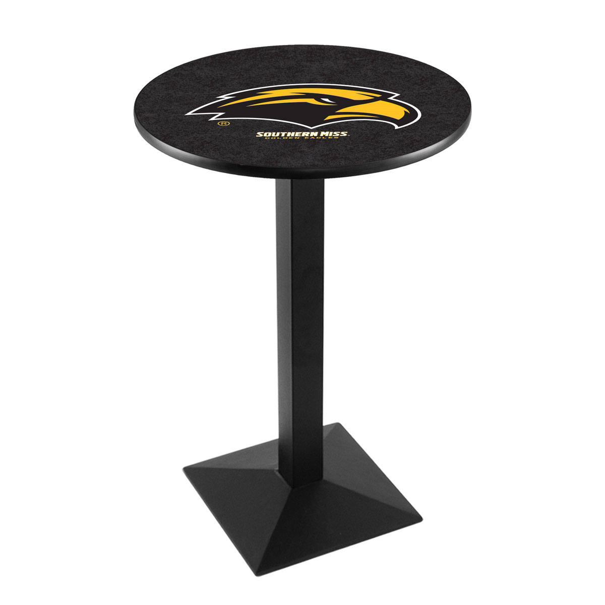 User friendly University Southern Mississippi Logo Pub Bar Table Square Stand Product Photo
