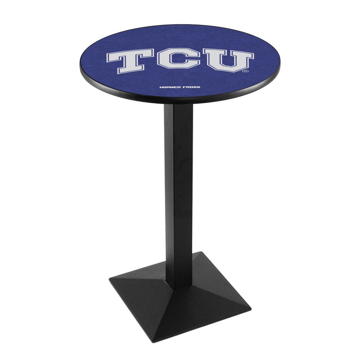 Amazing Tcu Logo Pub Bar Table Square Stand Product Photo