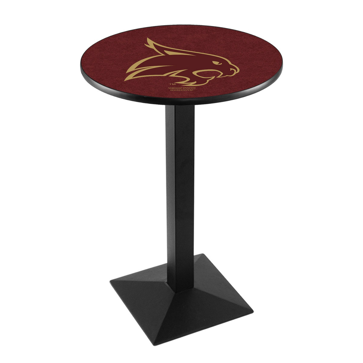 Exquisite Texas State University Logo Pub Bar Table Square Stand Product Photo