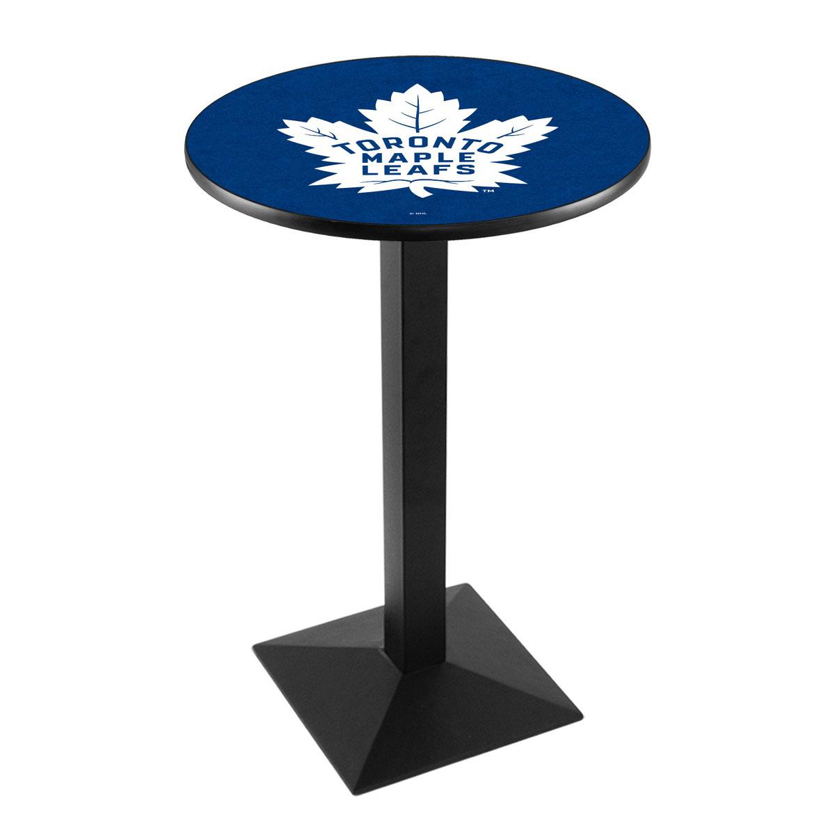 Tasteful Toronto Leafs Logo Pub Bar Table Square Stand Product Photo